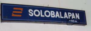Solo Balapan +93m (berarti 93M diatas permukaan laut)